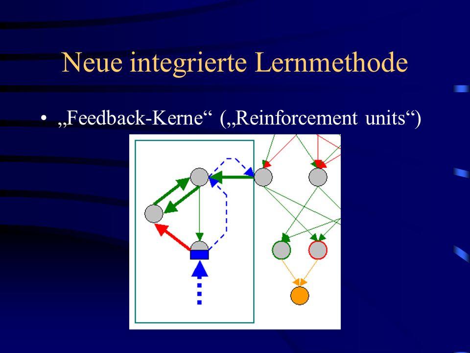 Neue integrierte Lernmethode Feedback-Kerne (Reinforcement units)