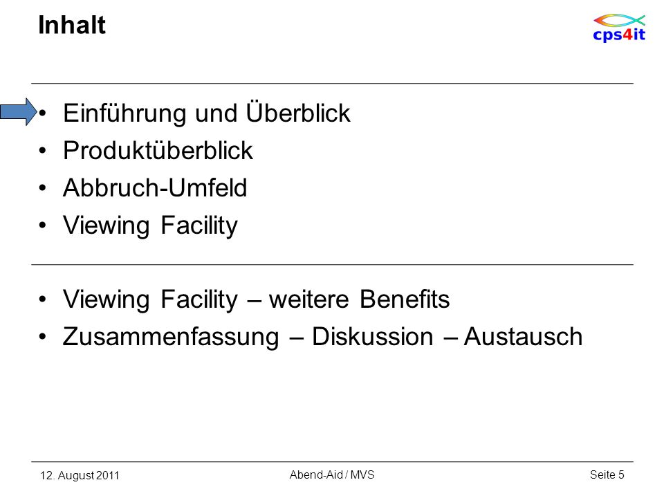 Viewing Facility 20 EPILOG – Abend-AID termination information 12.