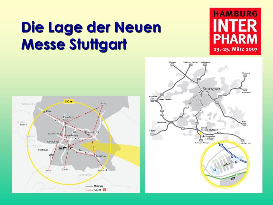 Die Lage der Neuen Messe Stuttgart