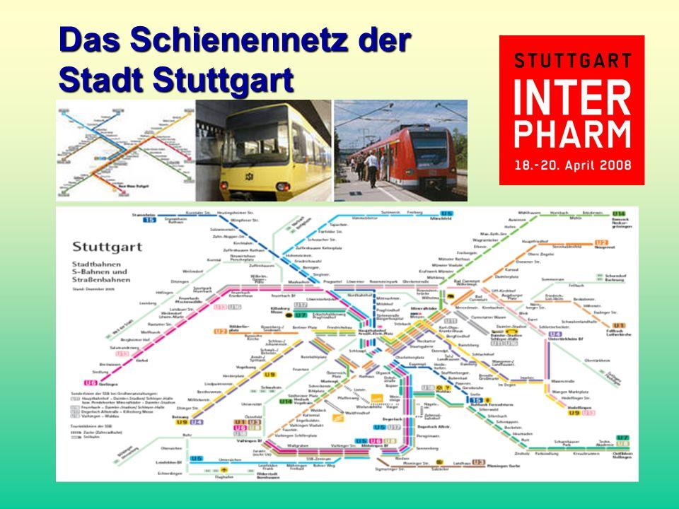 Das Schienennetz der Stadt Stuttgart