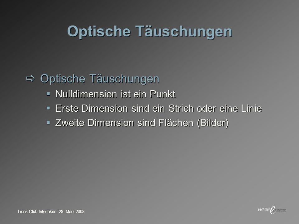 Lions Club Interlaken 28.März 2008 0 5 10 15 20 25 Contactlinse Laser Brille Implant Sph.