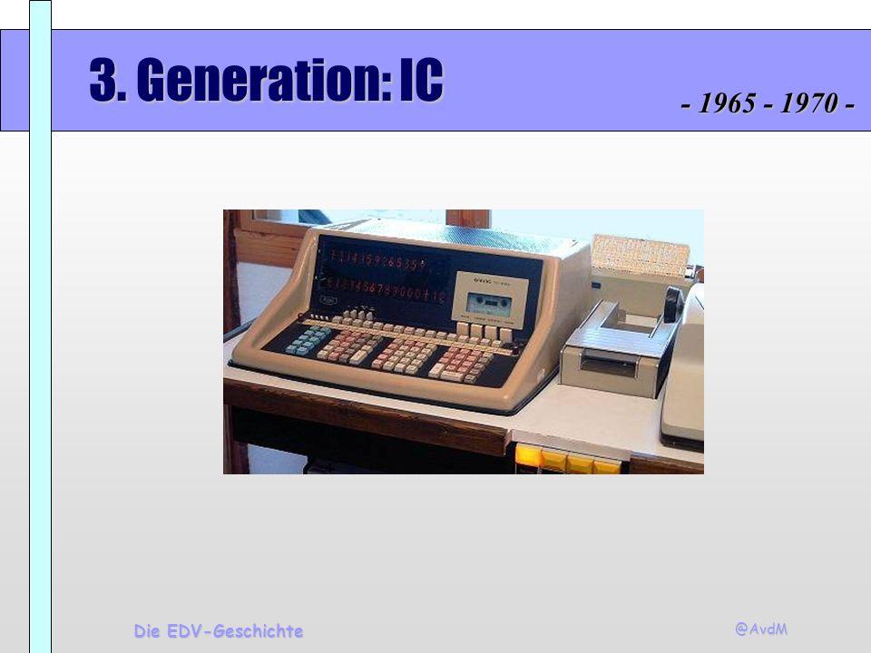 @AvdM Die EDV-Geschichte 3. Generation: IC - 1965 - 1970 -