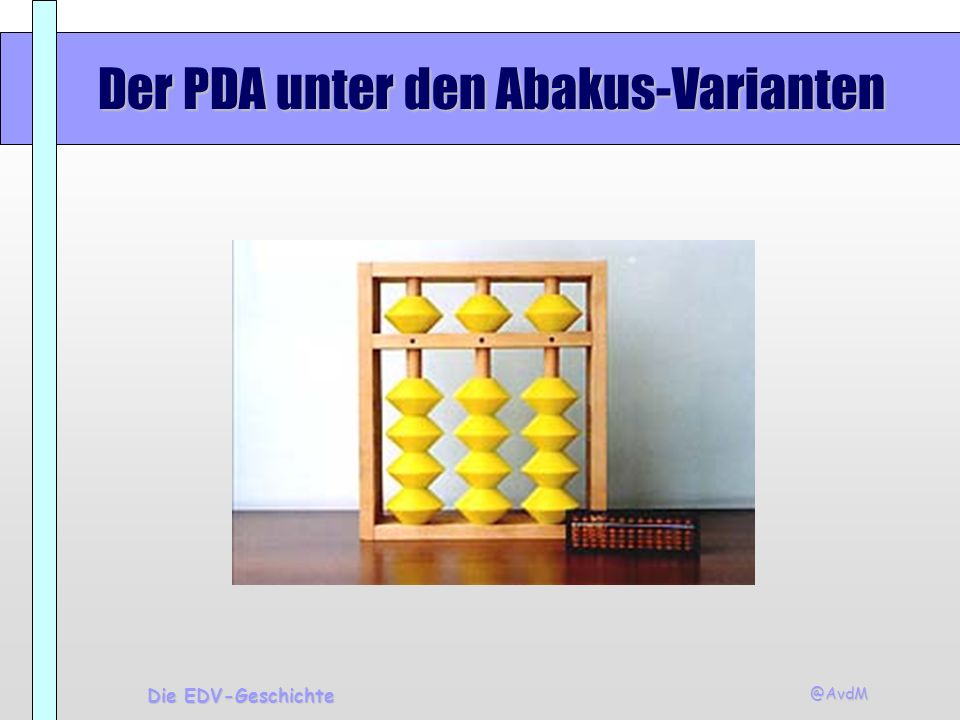 @AvdM Die EDV-Geschichte Software - Desktop Publishing Bekannte Programme Pagemaker, Framemaker (Adobe)Pagemaker, Framemaker (Adobe) Ventura Publisher (Corel)Ventura Publisher (Corel) Quark Xpress (Quark)Quark Xpress (Quark)