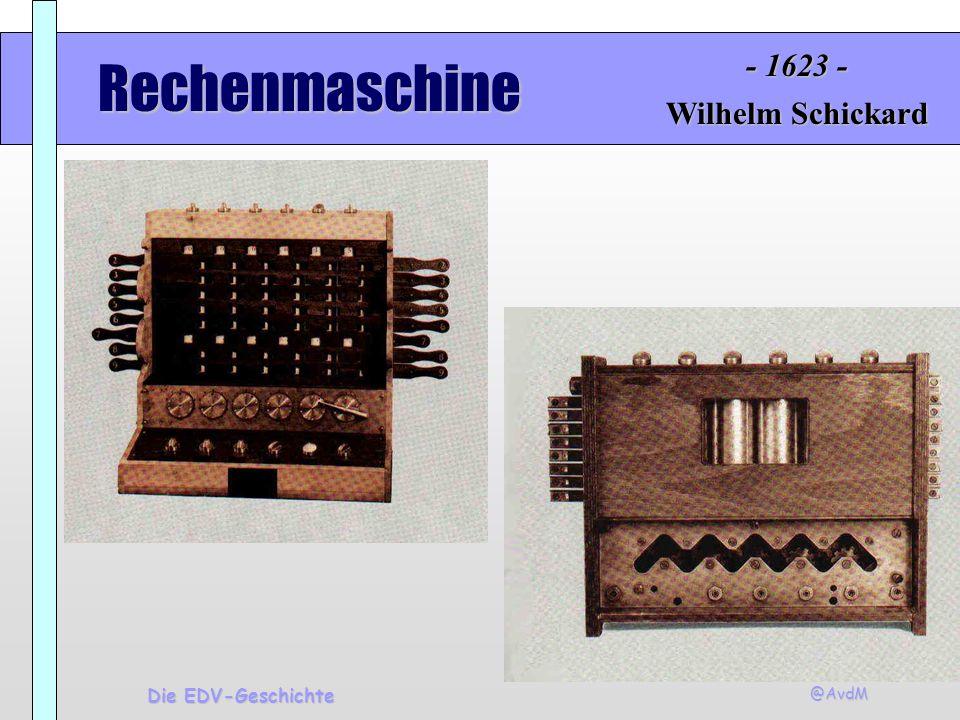 @AvdM Die EDV-Geschichte Addiermaschine Blaise Pascal - 1641 -