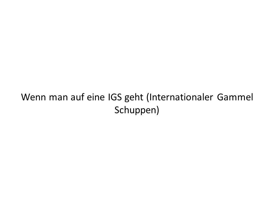 Wenn man auf eine IGS geht (Internationaler Gammel Schuppen)