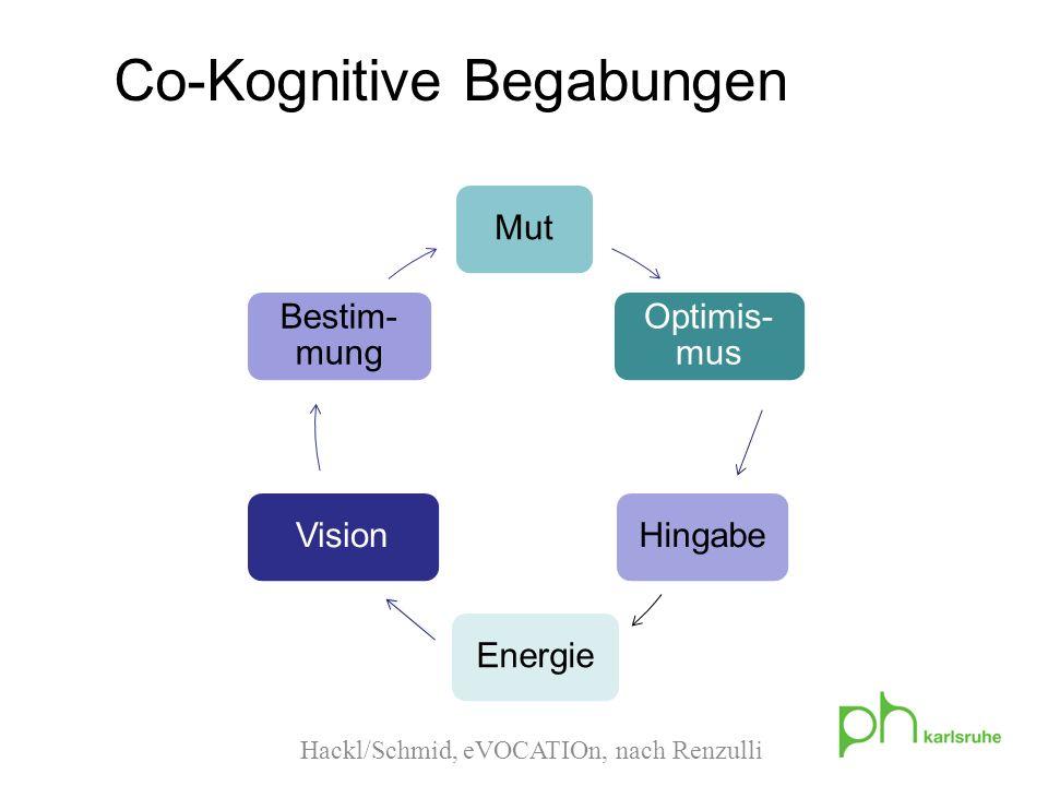 Hackl/Schmid, eVOCATIOn, nach Renzulli Co-Kognitive Begabungen