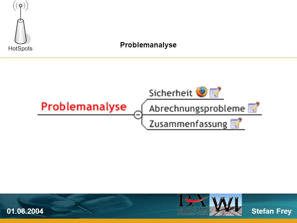 Stefan Frey01.06.2004 Problemanalyse
