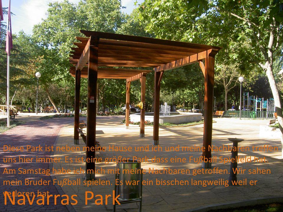 Navarras Park Diese Park ist neben meine Hause und ich und meine Nachbaren treffen uns hier immer.