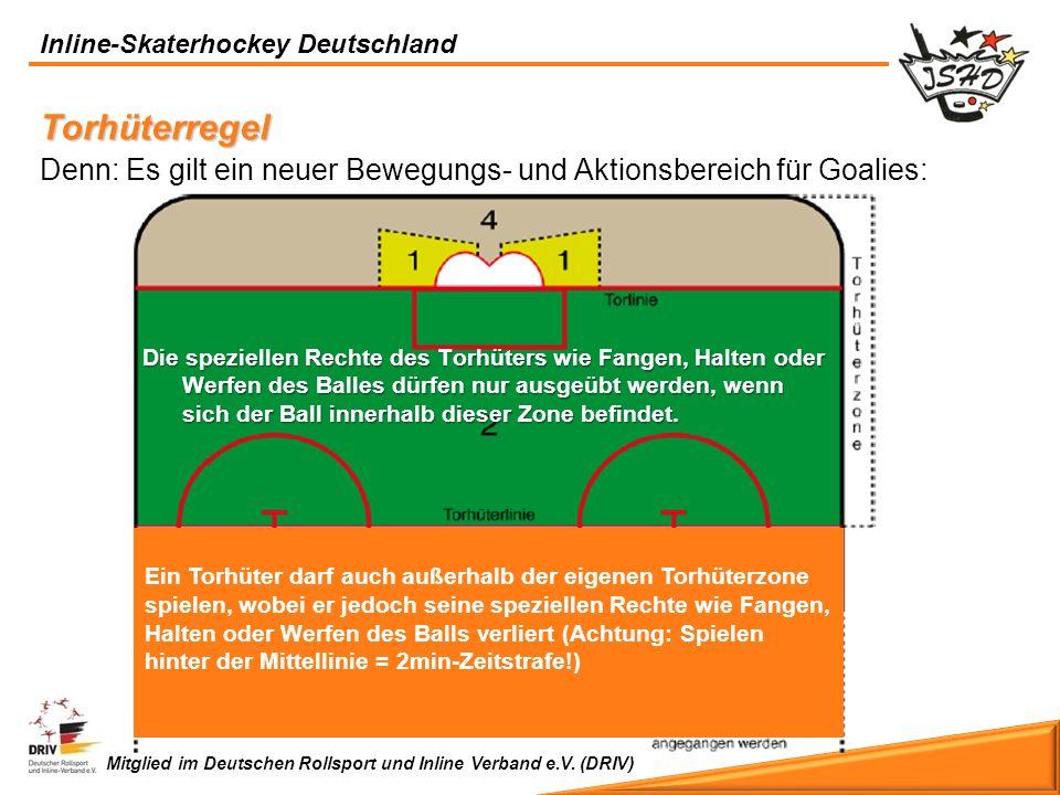 Inline-Skaterhockey Deutschland Mitglied im Deutschen Rollsport und Inline Verband e.V. (DRIV) Torhüterregel Denn: Es gilt ein neuer Bewegungs- und Ak