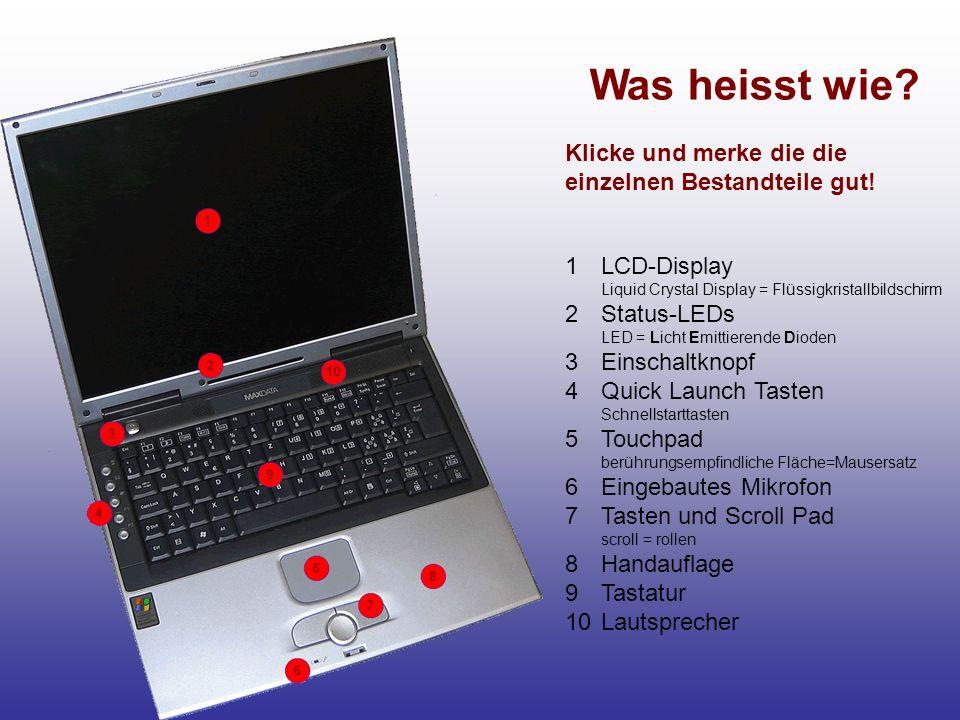 Was heisst wie.Touchpad Richtig Mit dem Finger kannst du auf dem Touchpad die Maus steuern.