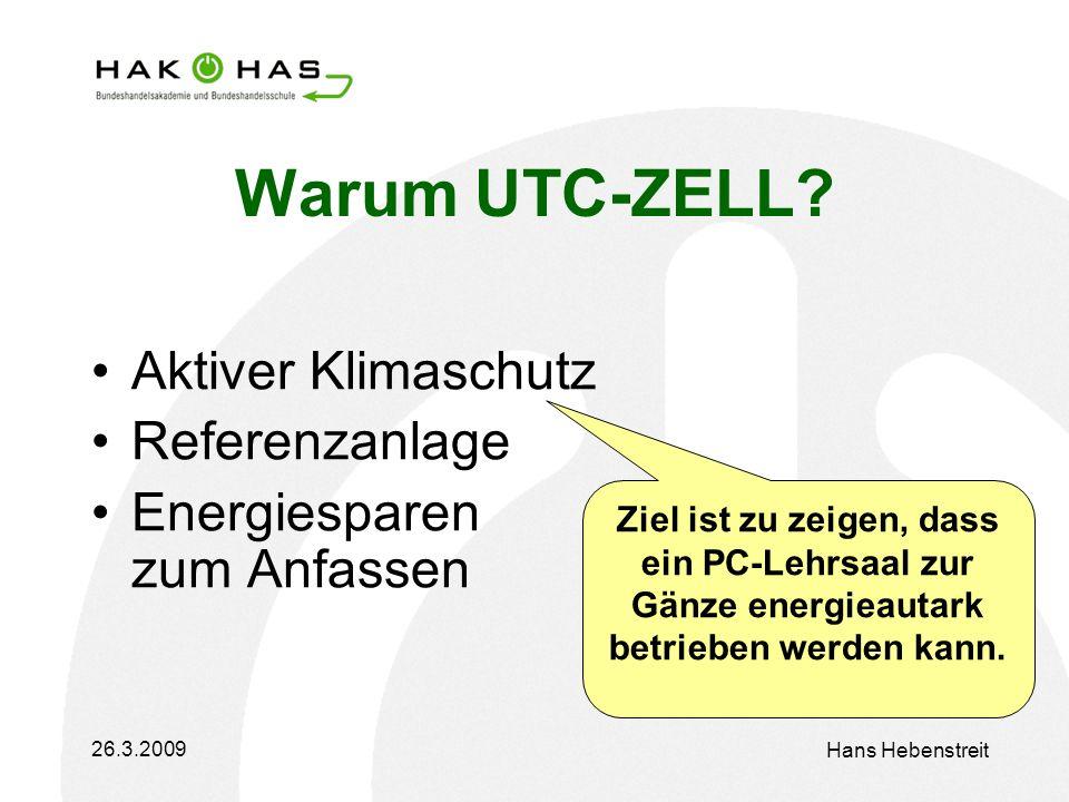 26.3.2009 Hans Hebenstreit Warum UTC-ZELL.
