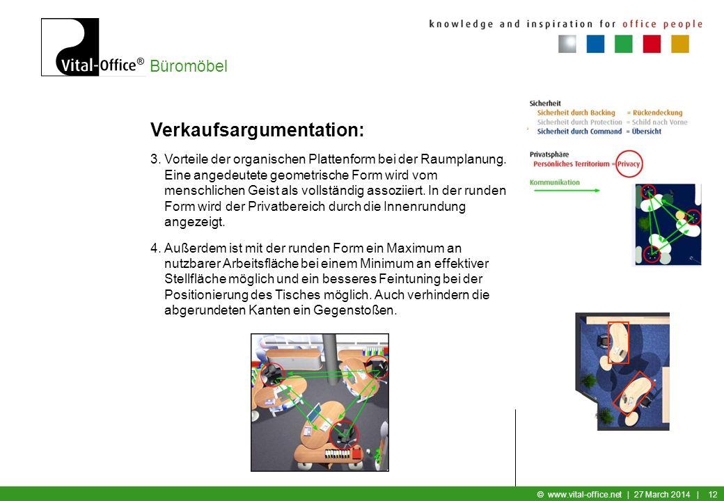Büromöbel © www.vital-office.net | 27 March 2014 | 11 Verkaufsargumentation: 1.Bei der Verkaufsargumentation von Vital-Office infinity|design immer OB