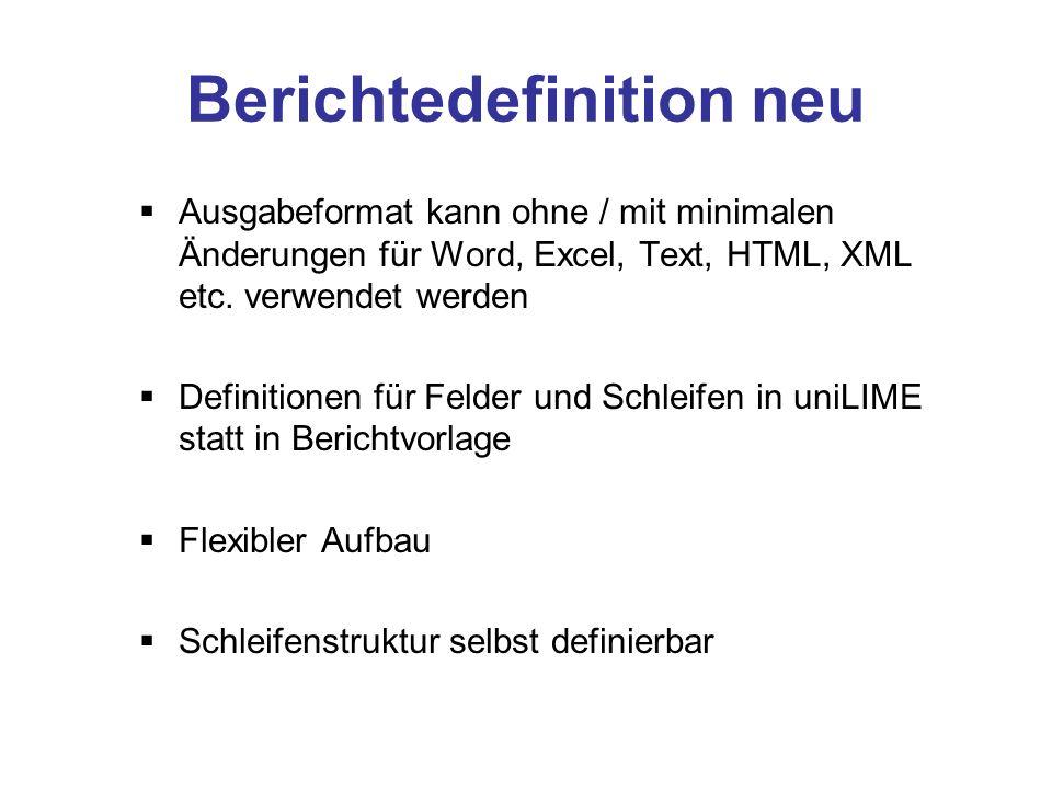 Tabellenbläter Grid Microsoft Excel im Labor weit verbreitet und flexibel Probleme mit Datensicherheit / Nachvollziehbarkeit Daher nur Import / Export zu uniLIME sinnvoll Grid in uniLIME integriert mit vielen Möglichkeiten von Excel Speicherung in Datenbank statt als Einzeldateien Zugriffsschutz und Nachvollziehbarkeit