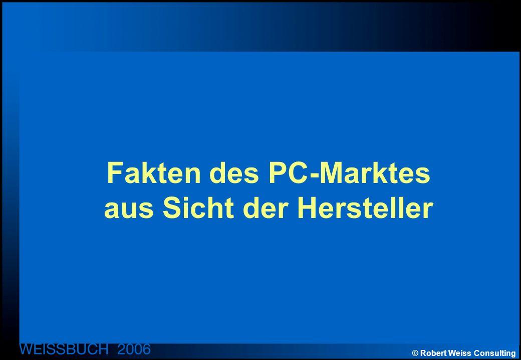 © Robert Weiss Consulting Fakten des PC-Marktes aus Sicht der Hersteller