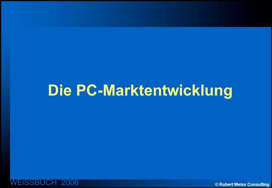 © Robert Weiss Consulting Die PC-Marktentwicklung