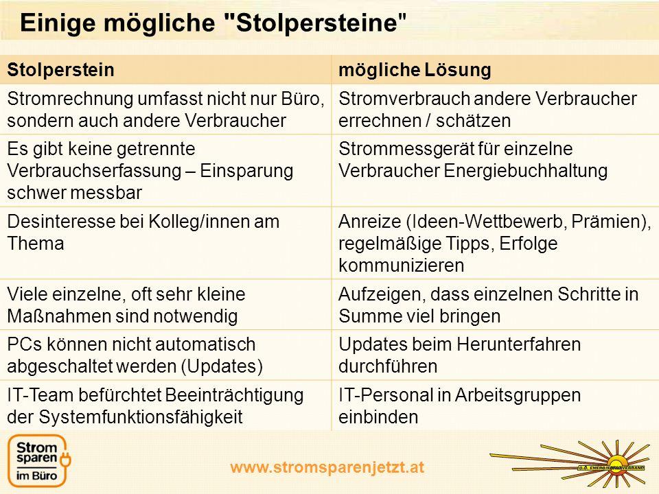 www.stromsparenjetzt.at Einige mögliche