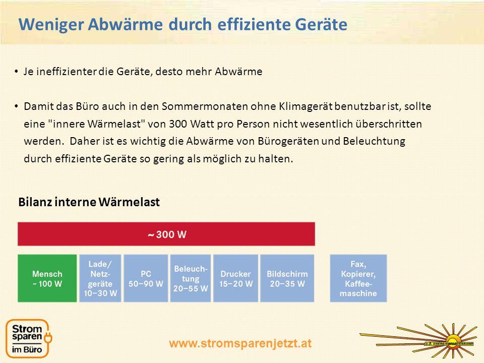 www.stromsparenjetzt.at Online Büro-Tool Beispiel Auswertung
