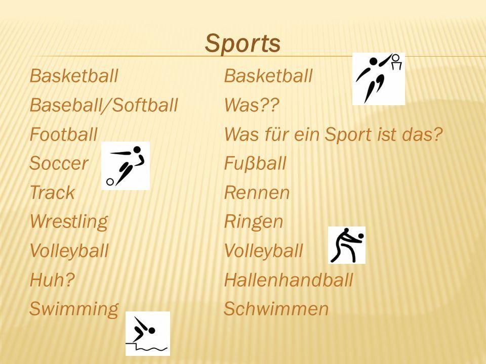 SportsBasketball Baseball/SoftballWas?. FootballWas für ein Sport ist das.