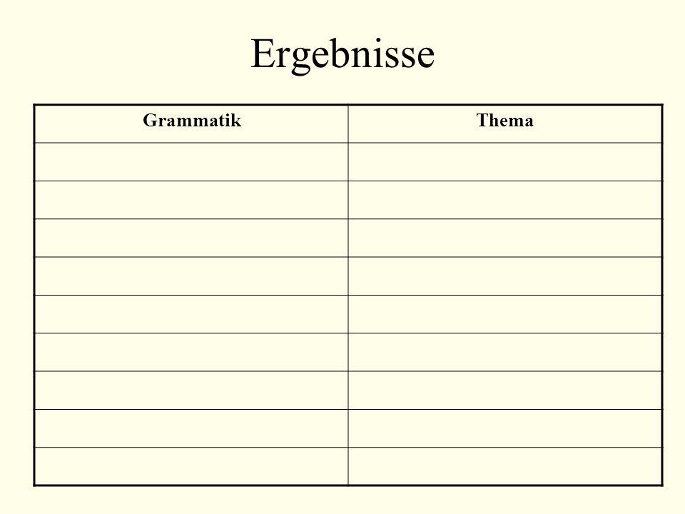 Ergebnisse GrammatikThema