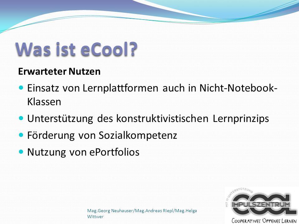 Mag.Georg Neuhauser/Mag.Andreas Riepl/Mag.Helga Wittwer Benefits einer Lernplattform (Mehrwert) - Zusatzarbeit zu Hause (z.B.
