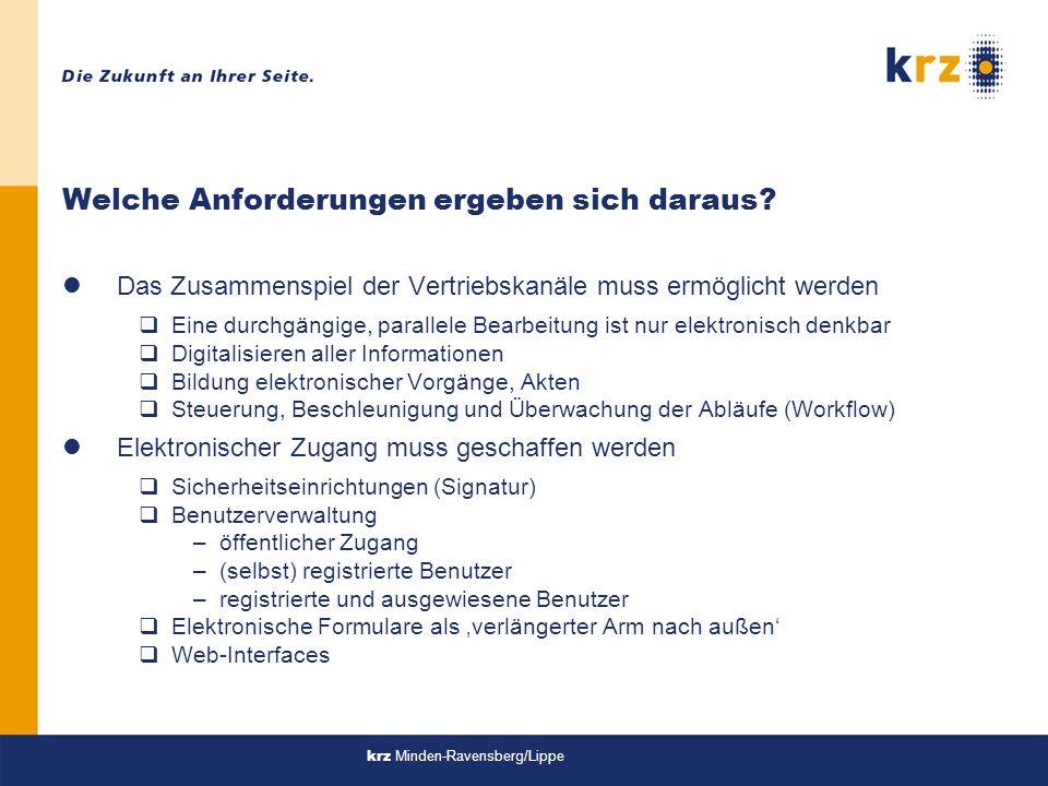 krz Minden-Ravensberg/Lippe Welche Anforderungen ergeben sich daraus.