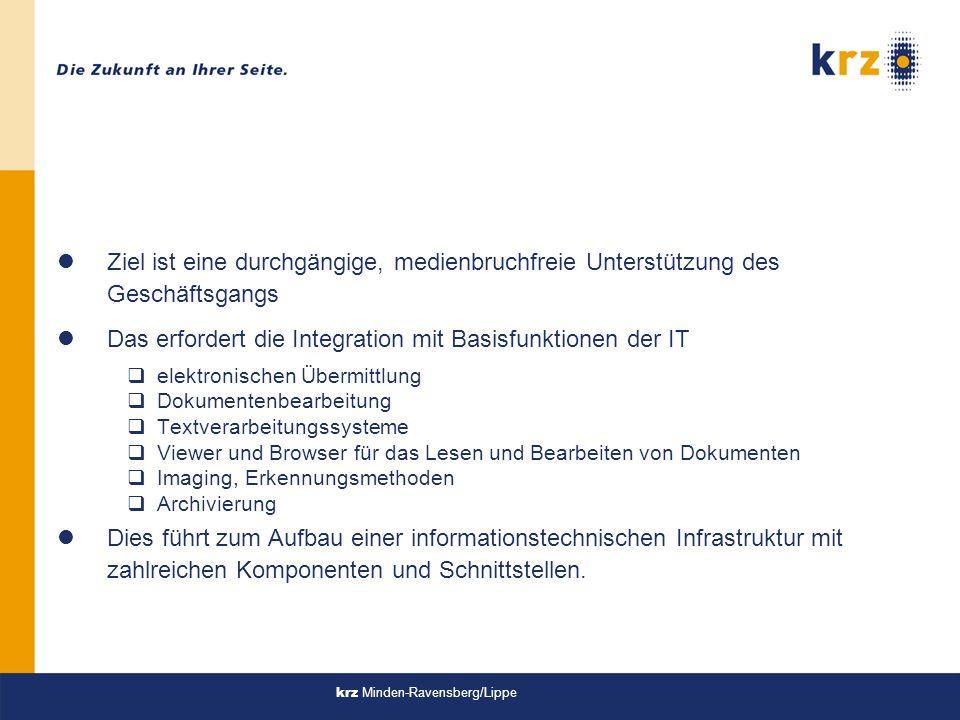 krz Minden-Ravensberg/Lippe Manage and Store - Knowlegde lRecherche lDirektzugriff