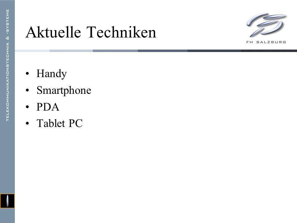 Aktuelle Techniken Am Beispiel vom Nokia 6100 Handy Farbdisplay 128x128 Pixel, 4K Farben WAP Browser und MMS Java Unterstützung Sprachsteuerung Vibra Call