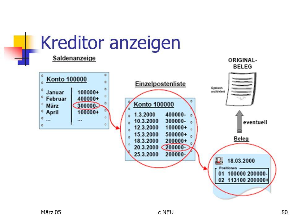 März 05c NEU80 Kreditor anzeigen