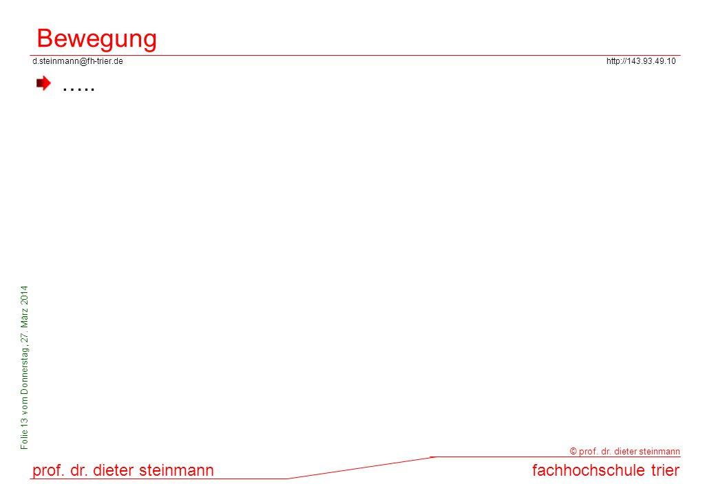 d.steinmann@fh-trier.dehttp://143.93.49.10 prof. dr. dieter steinmannfachhochschule trier © prof. dr. dieter steinmann Folie 13 vom Donnerstag, 27. Mä