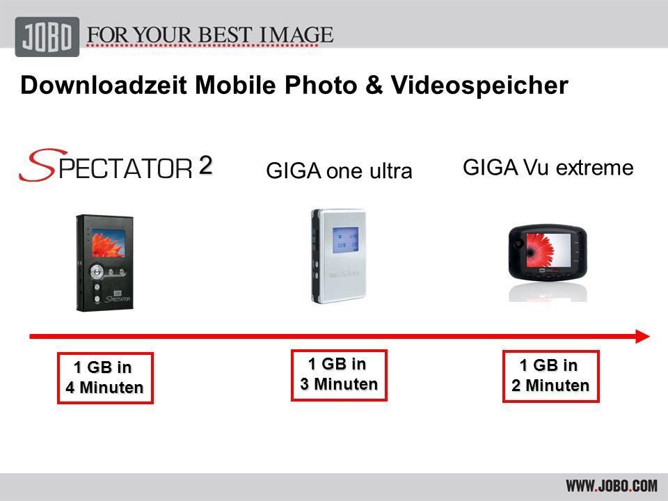 GIGA one ultra GIGA Vu extreme 40 GB = 149,- 80 GB= 179,- 120 GB= 229,- 200 GB= 329,- Preisrange Mobile Photo & Videospeicher 2 40 GB = 249,- 80 GB= 299,- 120 GB= 379,- 80 GB = 599,- 120 GB= 699,- 160 GB= 849,-