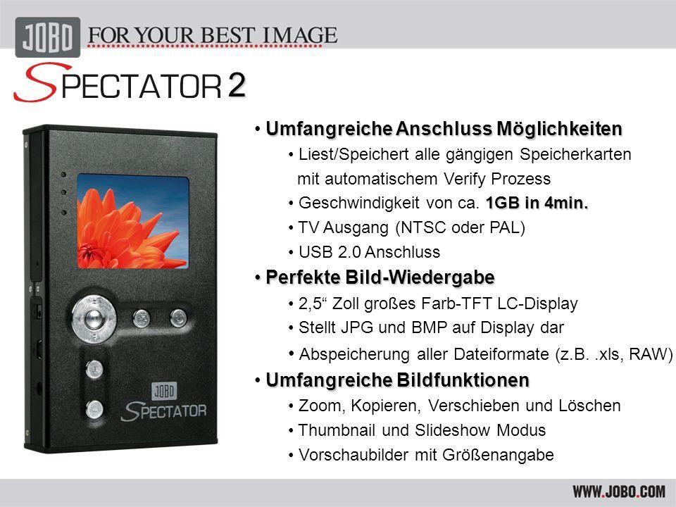 Umfangreiche Systemeinstellungen Umfangreiche Systemeinstellungen Helligkeit und Kontrast Menüführung in 7 Sprachen Energie-Sparfunktion/ Automatische Abschaltung TV Ausgabe für PAL oder NTSC Anzeige der Batterie-/Festplattenkapazität Formatfunktion für HDD & Speicherkarten Spezifikationen Spezifikationen Aluminiumgehäuse Reset- und Hold Taste Größe: L 129 x B 78 x H 23.7 mm Gewicht: ca.
