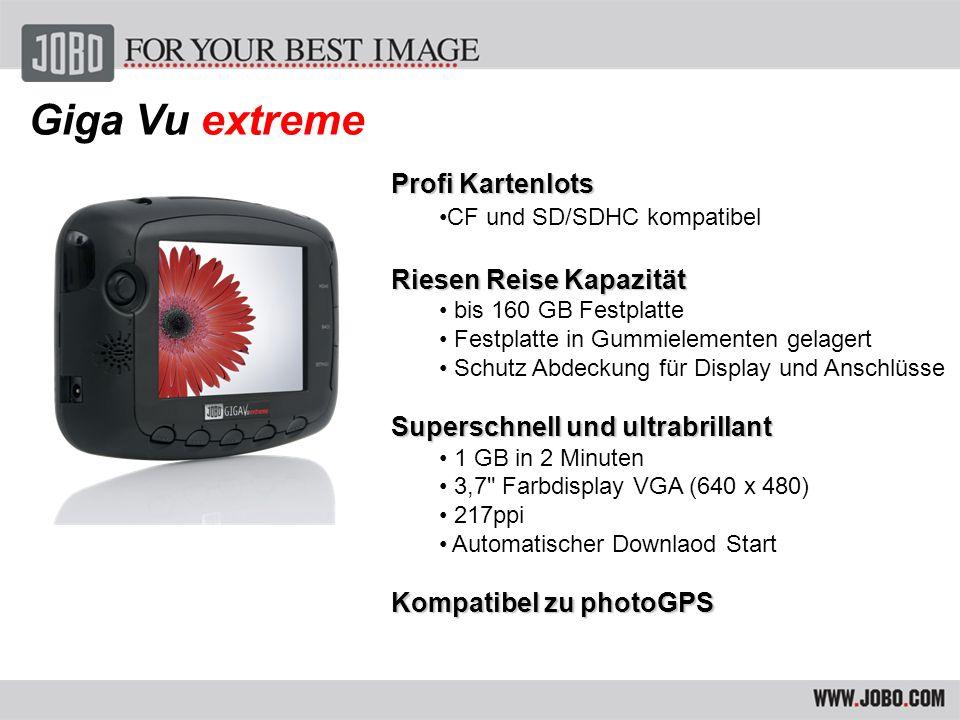 Giga Vu extreme Professionelle Photo-Funktionen Verify-Prozess nach Download 100 RAW Formate dekodieren und darstellen z.B.