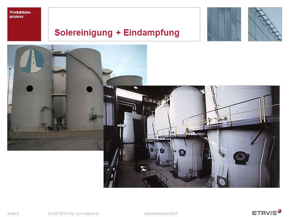 Seite 8© 2007 ETAVIS, www.etavis.chIndustrieforum 2007 Solereinigung + Eindampfung Produktions- prozess