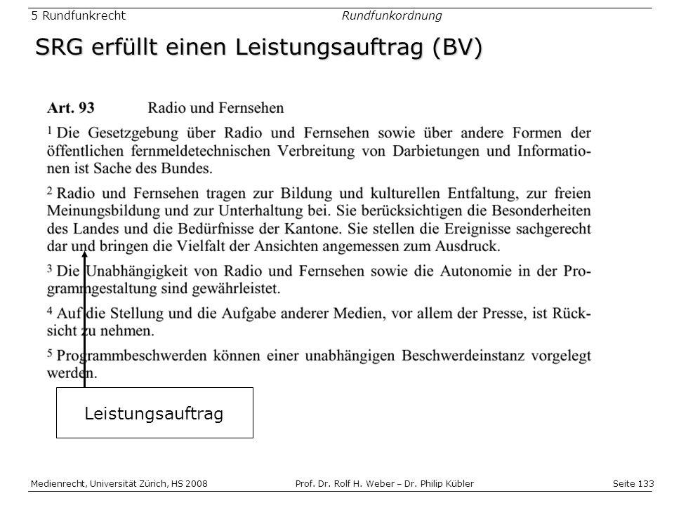 Seite 133 Medienrecht, Universität Zürich, HS 2008Prof.