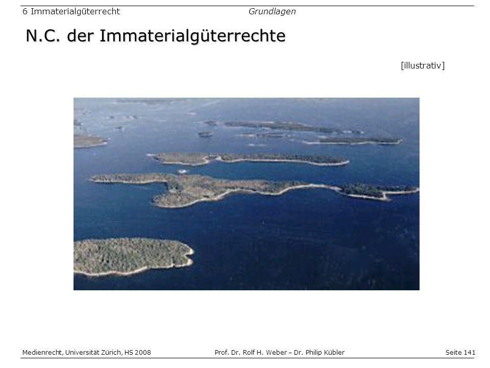 Seite 141 Medienrecht, Universität Zürich, HS 2008Prof.