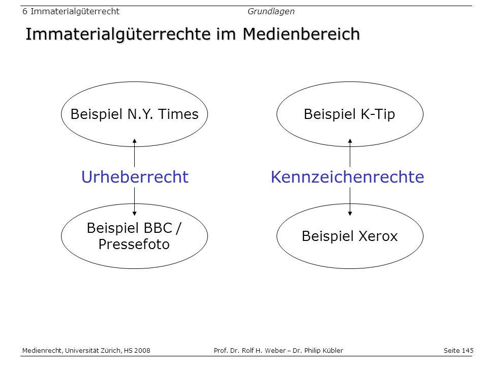 Seite 145 Medienrecht, Universität Zürich, HS 2008Prof.