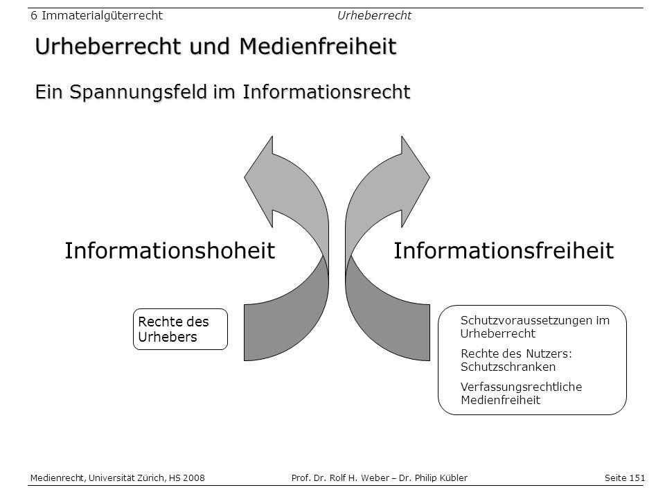 Seite 151 Medienrecht, Universität Zürich, HS 2008Prof.