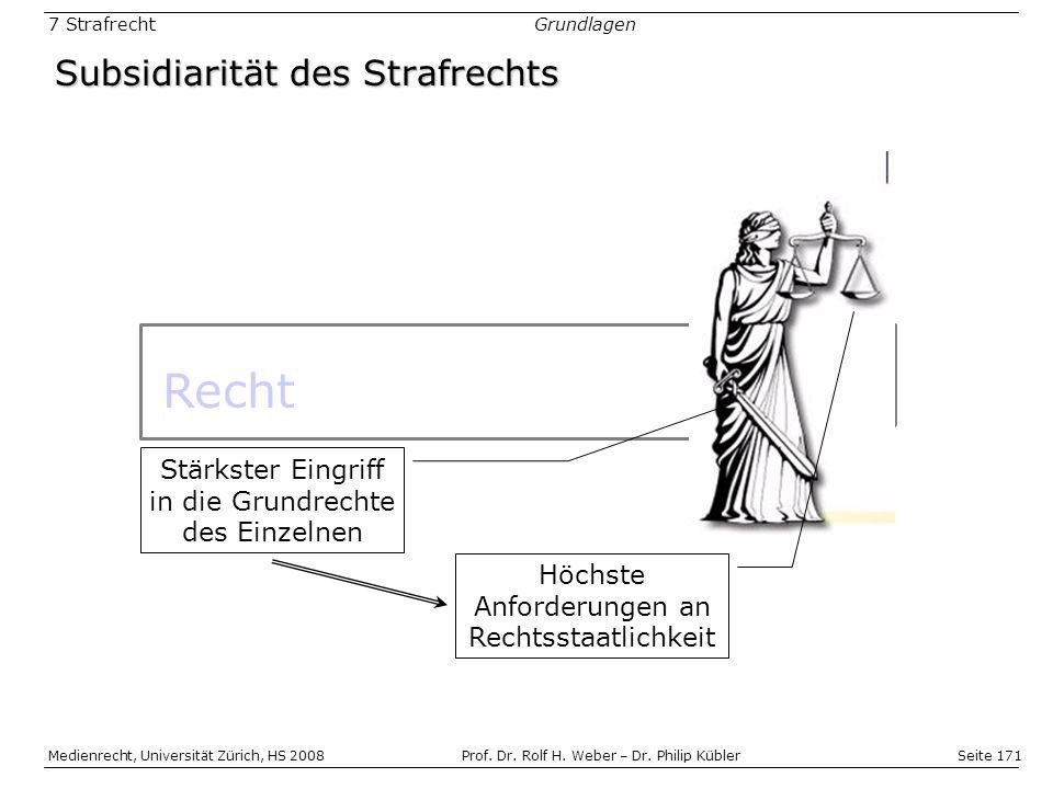 Seite 171 Medienrecht, Universität Zürich, HS 2008Prof.