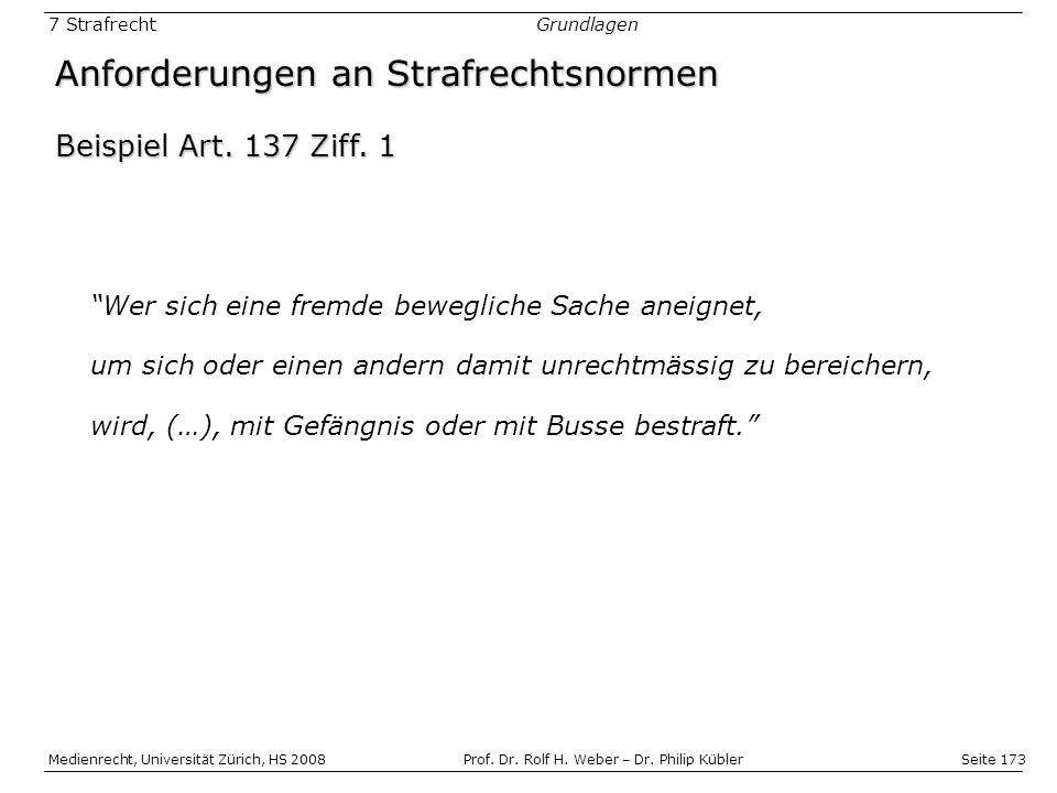 Seite 173 Medienrecht, Universität Zürich, HS 2008Prof.