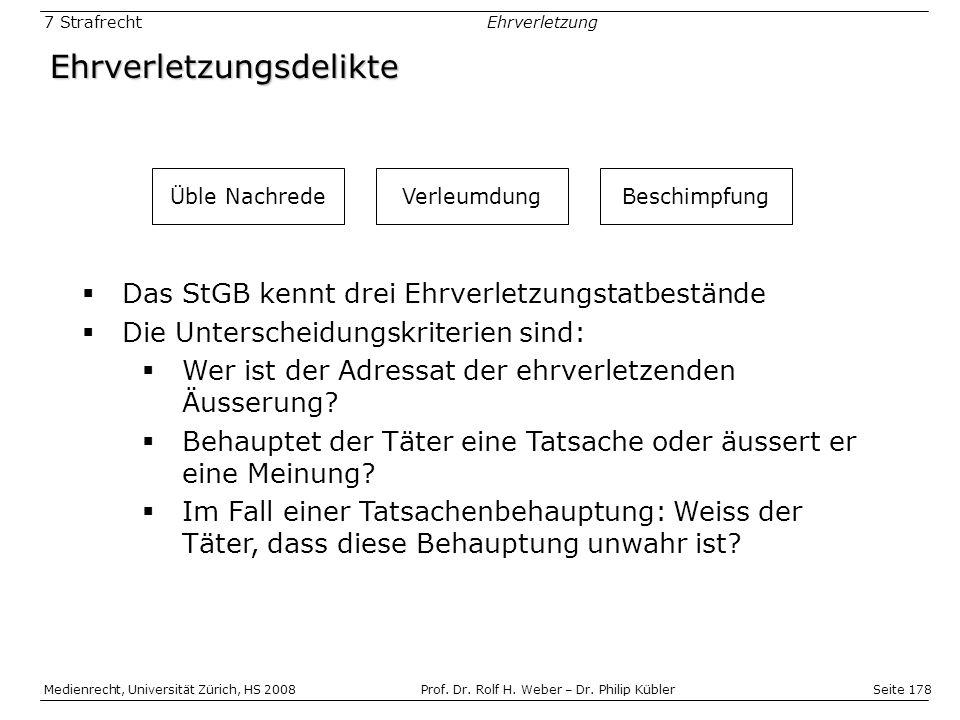 Seite 178 Medienrecht, Universität Zürich, HS 2008Prof.