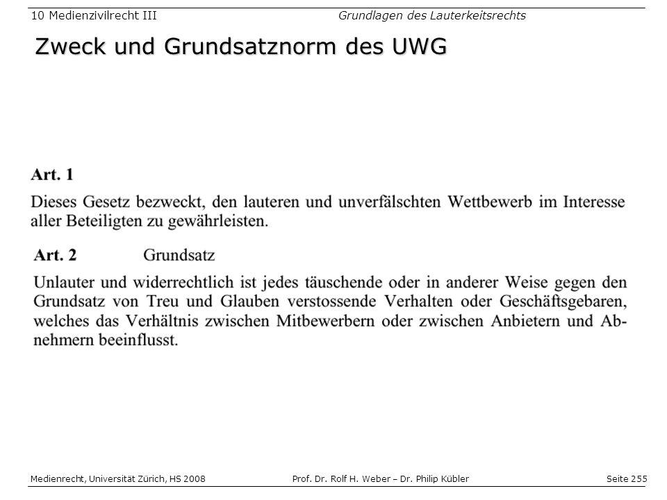 Seite 255 Medienrecht, Universität Zürich, HS 2008Prof.