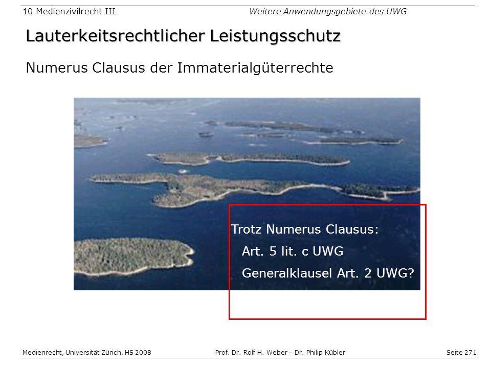 Seite 271 Medienrecht, Universität Zürich, HS 2008Prof.