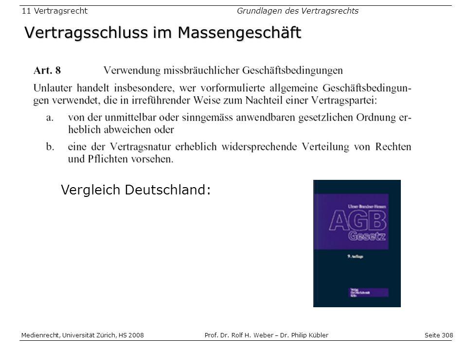 Seite 308 Medienrecht, Universität Zürich, HS 2008Prof.