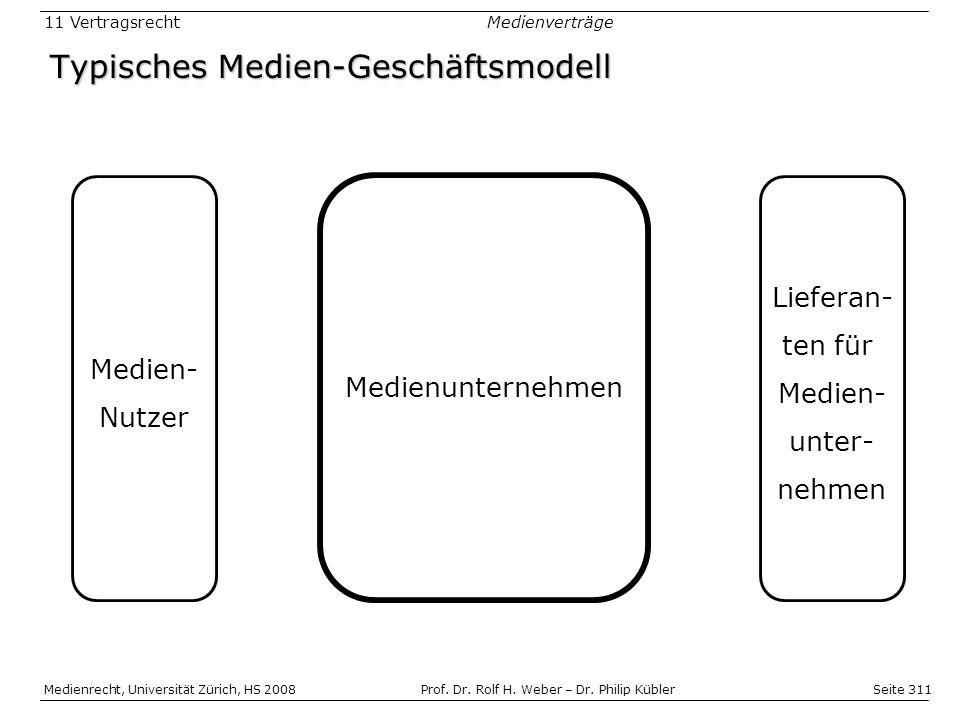 Seite 311 Medienrecht, Universität Zürich, HS 2008Prof.