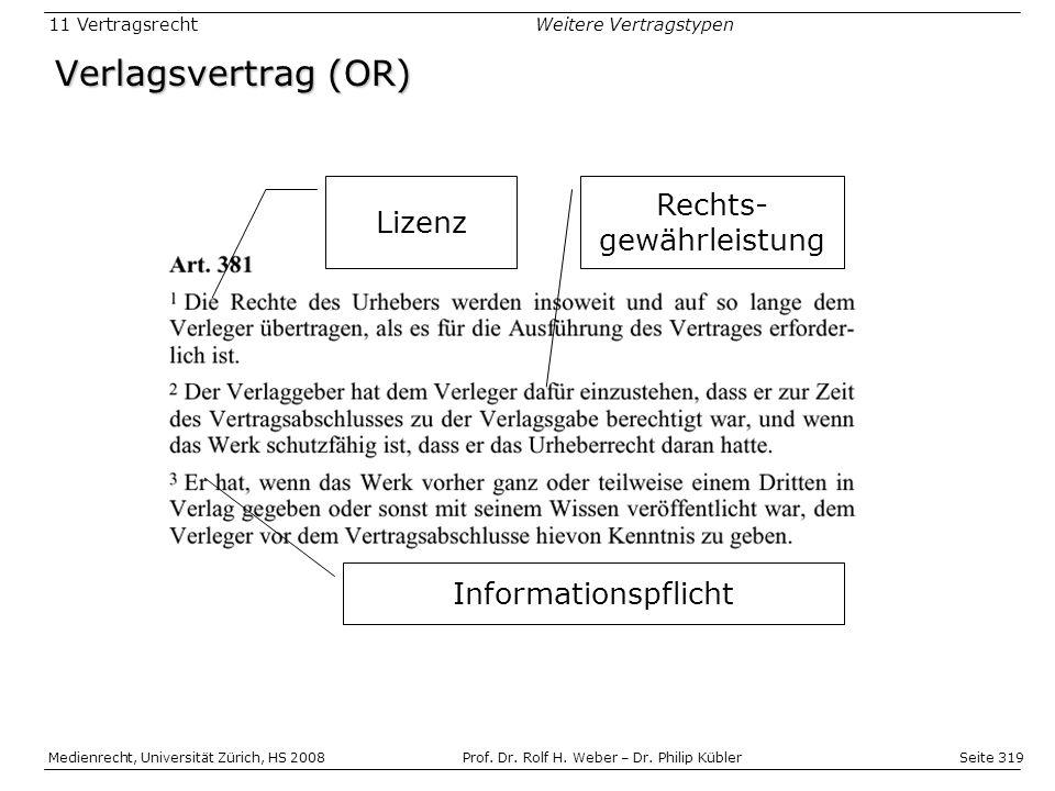 Seite 319 Medienrecht, Universität Zürich, HS 2008Prof.