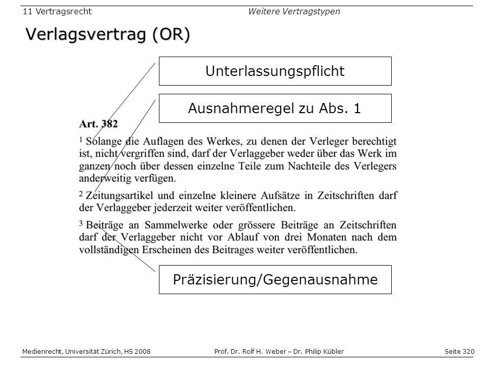 Seite 320 Medienrecht, Universität Zürich, HS 2008Prof.