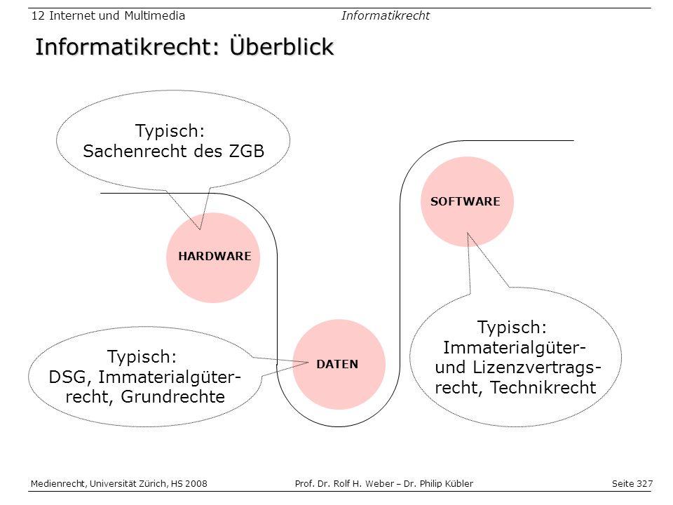 Seite 327 Medienrecht, Universität Zürich, HS 2008Prof.
