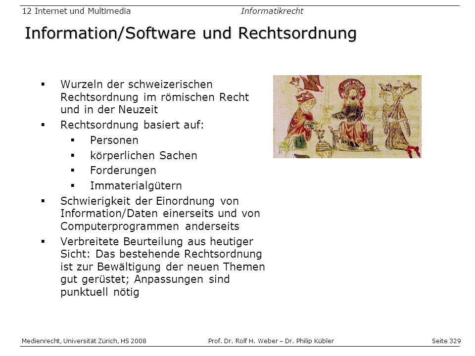 Seite 329 Medienrecht, Universität Zürich, HS 2008Prof.