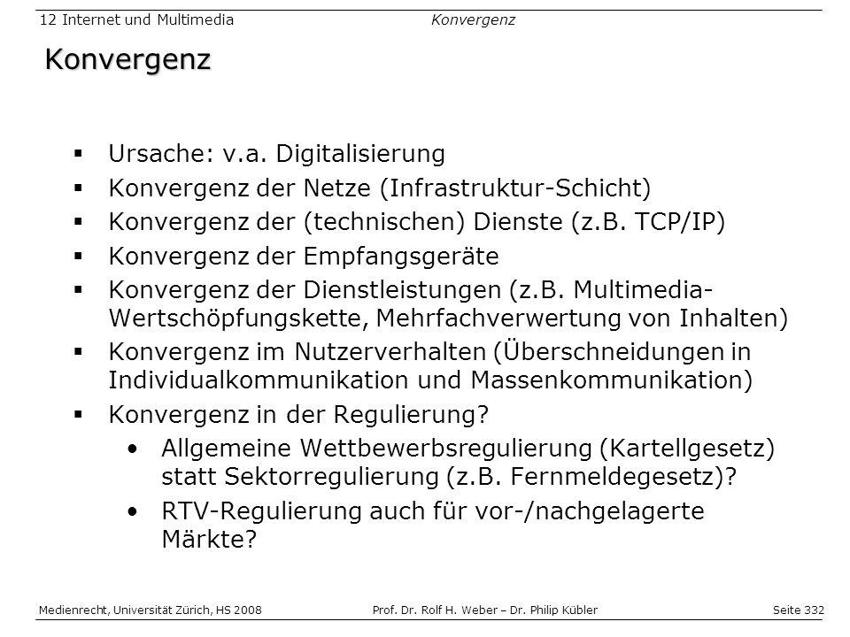 Seite 332 Medienrecht, Universität Zürich, HS 2008Prof.