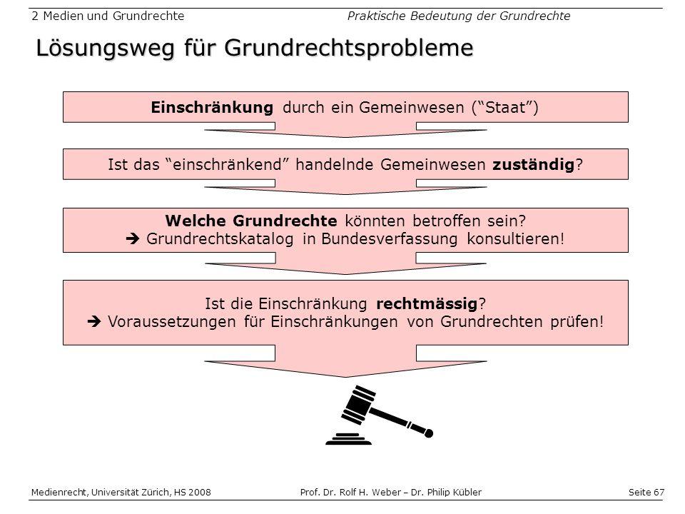 Seite 67 Medienrecht, Universität Zürich, HS 2008Prof.
